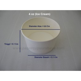 Paper Cup 4oz (Ice Cream)